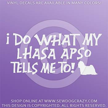 Funny Lhasa Apso Vinyl Sticker