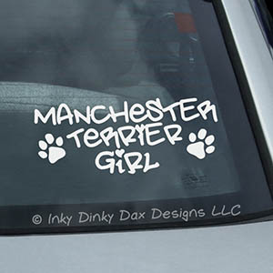 Manchester Terrier Girl Vinyl Sticker