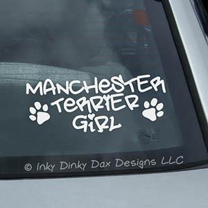 Manchester Terrier Girl Vinyl Sticker