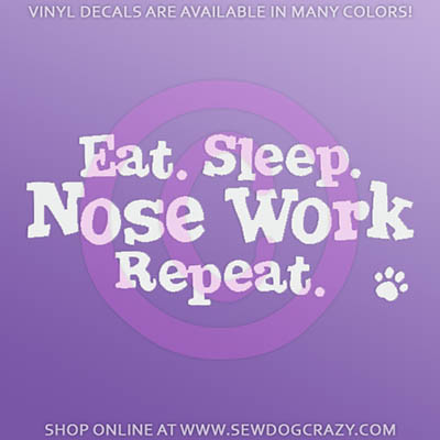 Nose Work Vinyl Sticker