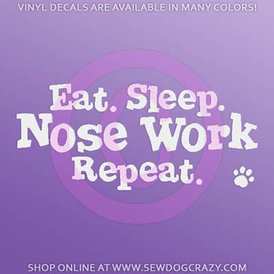 Nose Work Vinyl Sticker
