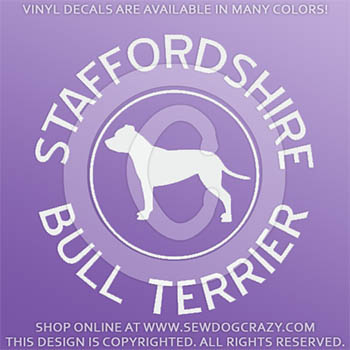 Staffordshire Bull Terrier Decals