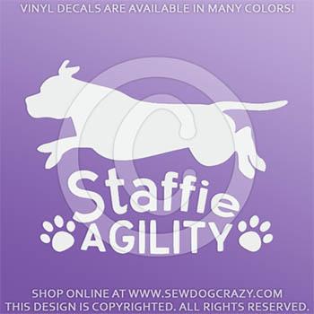 Staffie Agility Decals