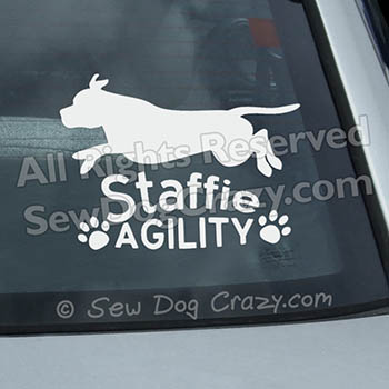 Staffordshire Bull Terrier Agility Stickers