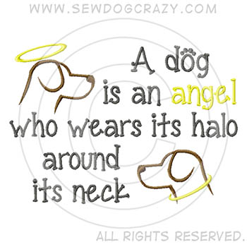 Embroidered Angel Dog Shirts