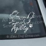 Agility Papillon Car Sticker