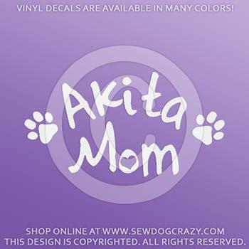 Akita Mom Car Decal