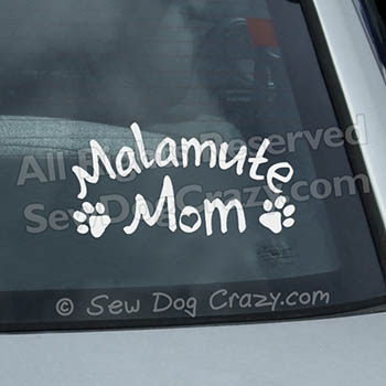 Alaskan Malamute Mom Car Sticker