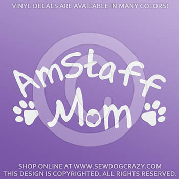 AmStaff Mom Car Sticker