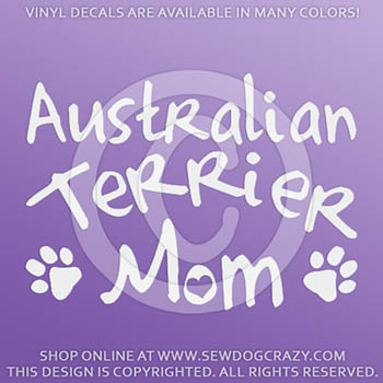 Australian Terrier Mom Car Decal