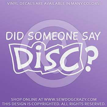 Disc Dog Car Sticker