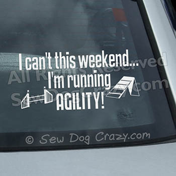 Funny Dog Agility Car Stickers