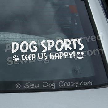 Dog Sports Car Window Stickers
