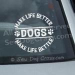 Dog Car Window Stickers