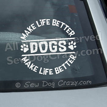 Dog Car Window Stickers
