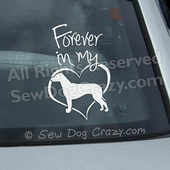Forever In My Heart Ridgeback Vinyl Sticker