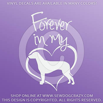 Forever In My Heart Ridgeback Vinyl Decal