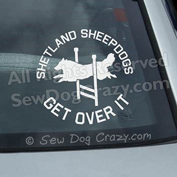 Funny Agility Sheltie Car Decal