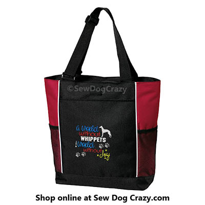 Embroidered Whippet Tote