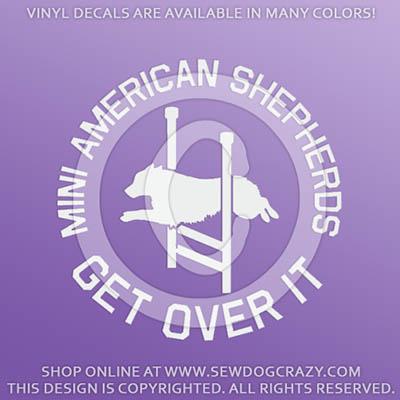 Miniature American Shepherd Agility Decals