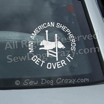Mini American Shepherd Agility Sticker
