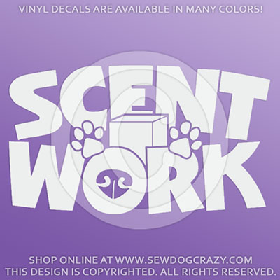 Scent Work Car Window Stickers