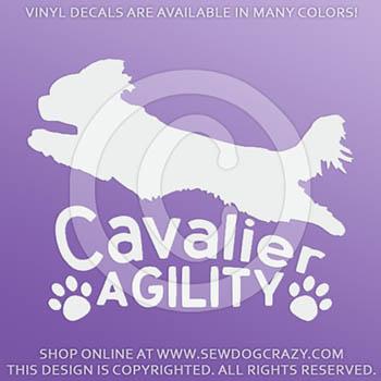 Cavalier King Charles Spaniel Agility Decals