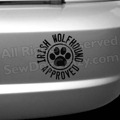 Irish Wolfhound Approved Bumper Stickers