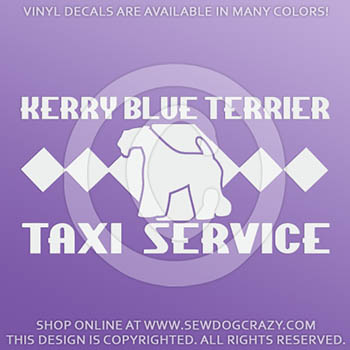Kerry Blue Terrier Taxi Decal