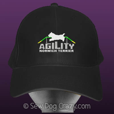 Embroidered Norwich Terrier Agility Hats