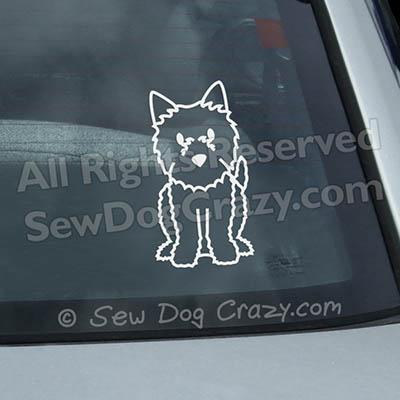 Cartoon Norwich Terrier Car Window Sticker