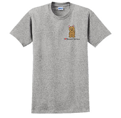 Embroidered Norwich Terrier TShirt