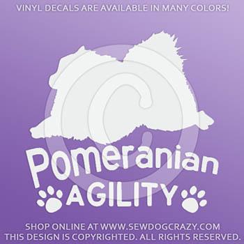 Pomeranian Agility Vinyl Decals