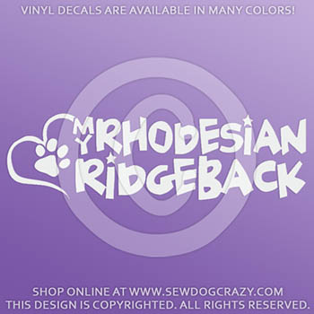 Love my Rhodesian Ridgeback Vinyl Stickers