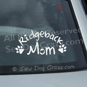 Ridgeback Mom Window Sticker