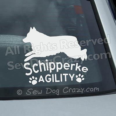 Schipperke Agility Car Window Sticker