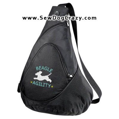 Embroidered Agility Beagle Bags