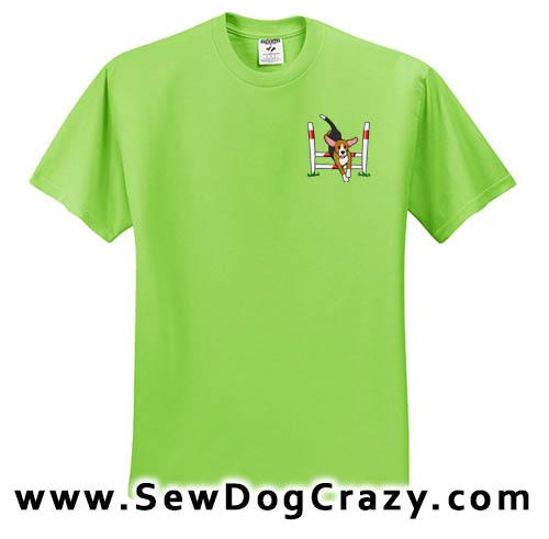 Cartoon Agility Beagle Tshirt