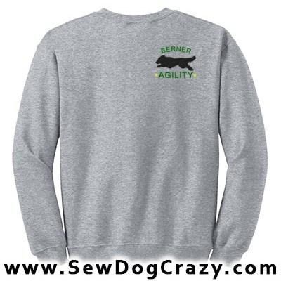 Embroidered Bernese Mountain Dog Agility Sweatshirts