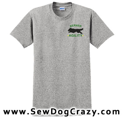 Embroidered Bernese Mountain Dog Agility Tees
