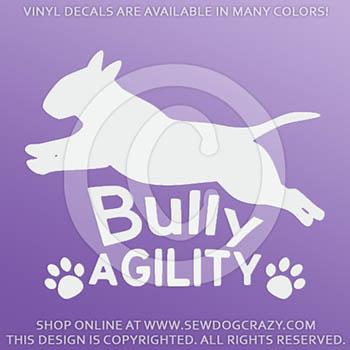 Bull Terrier Agility Vinyl Stickers