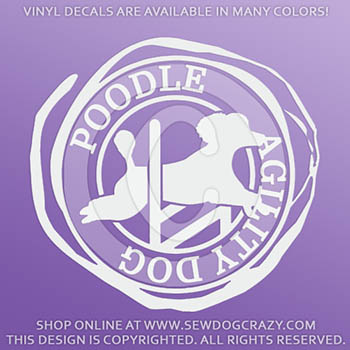 Poodle Agility Decals