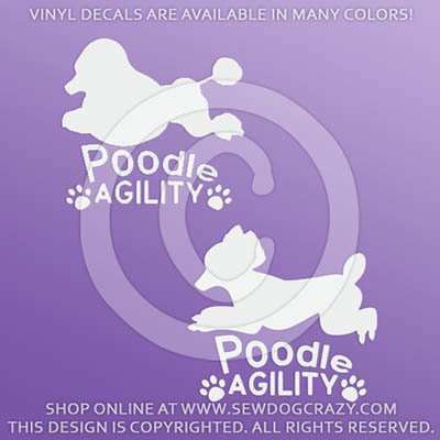 Poodle Agility Car Decals