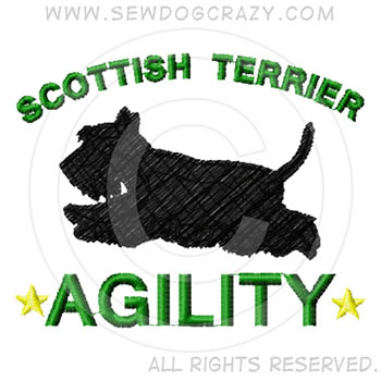 Embroidered Scottish Terrier Agility Gifts
