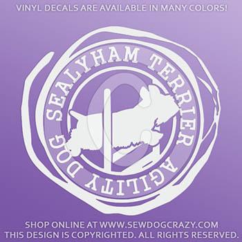 Sealyham Terrier Agility Vinyl Decals