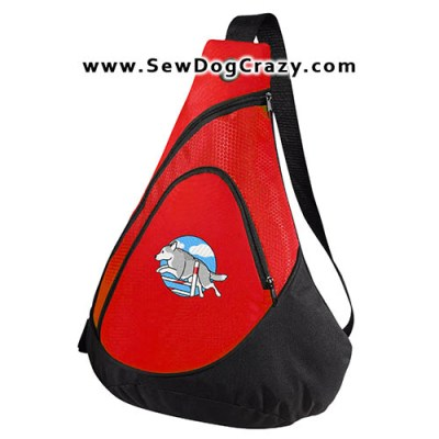 Embroidered Siberian Husky Agility Bag