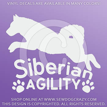 Vinyl Siberian Husky Agility Decals