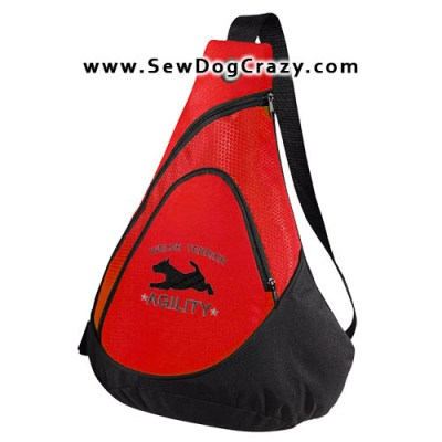 Embroidered Agility Welsh Terrier Bag