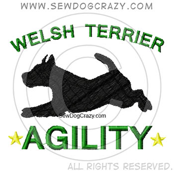 Embroidered Welsh Terrier Agility Shirts