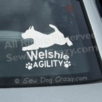 Welshie Agility Window Stickers